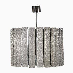 Metal and Glass Ceiling Lamp, 1960s