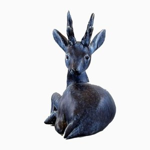 Glazed Ceramic Deer from FEJ 'Folke and Elsa Jernberg', 1960s