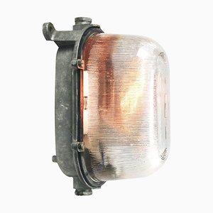 Lampada da parete Mid-Century in vetro smerigliato