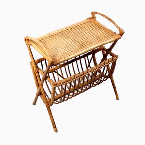 Rattan Magazine Rack from Rohé Noordwolde, 1960s