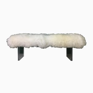 Banc en Peau de Mouton Blanche par Area Design Ltd