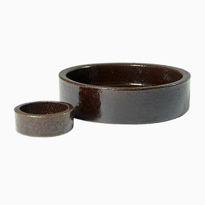 Danish Stoneware Bowls from Hasle, 1960s, Set of 2