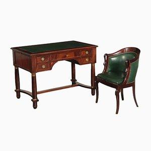 Scrivania e sedia antiche in stile Impero