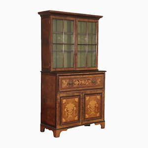 19th Century Dutch Mahogany, Maple, and Walnut Cupboard