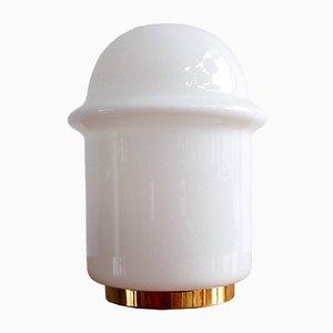 Lámpara de mesa vintage de vidrio de Valašské Meziříčí, años 70