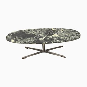 Marble Model Verde Alpi Coffee Table by Florence Knoll Bassett for Knoll Inc. / Knoll International, 1970s