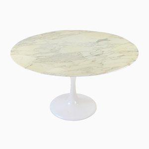 Mesa de comedor Tulip Mid-Century de mármol, años 60