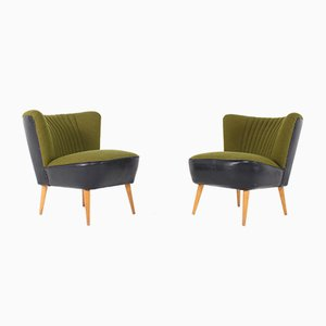 Green Cocktail Chairs, 1960s, Set of 2