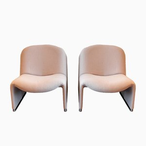 Gray Model Alky Lounge Chairs by Giancarlo Piretti for Castelli / Anonima Castelli, 1970s, Set of 2