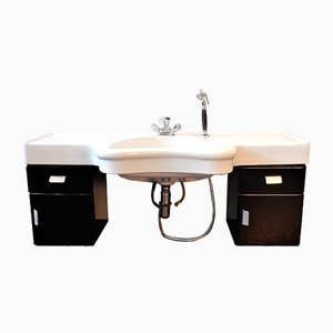 Vintage German Hairdressers Wash Basin and Cabinet from Olymp, 1950s