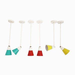 Lampade da soffitto di Le Corbusier & Charlotte Perriand, anni '60, set di 6