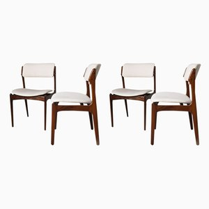 Rosewood Dining Chairs by Erik Buch for Oddense Maskinsnedkeri / O.D. Møbler., 1960s, Set of 4