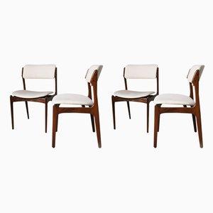 Sedie da pranzo in palissandro di Erik Buch per Oddense Maskinsnedkeri / O.D. Møbler., Anni '60, set di 4