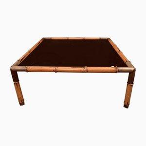 Tavolino in bambù e ottone, anni '60