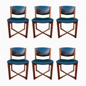 Vintage Italian Rosewood Dining Chairs, Set of 6
