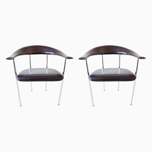 Dining Chairs by Giancarlo Vegni for Fasem, 1980s, Set of 2