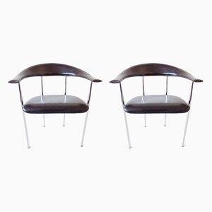 Esszimmerstühle von Giancarlo Vegni für Fasem, 1980er, 2er Set