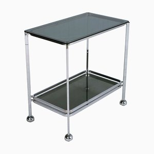 Chrome Steel & Glass Trolley by Romeo Rega for Allegri, 1970s