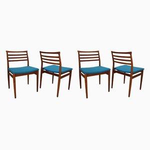 Esszimmerstühle aus Teak von Erling Torvits für Sorø Stolefabrik, 1960er, 4er Set