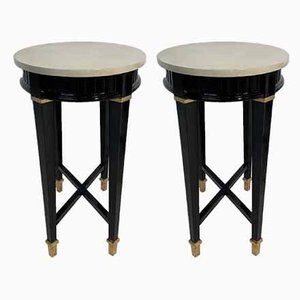 Italian Side Tables, 1980s, Set of 2