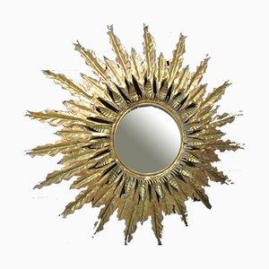Mid-Century Metal Sun Mirror