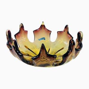 Centrotavola Mid-Century fiammato di Made Murano Glass