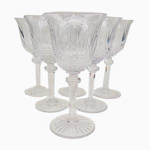 Vasos de cristal de Saint Louis, años 70. Juego de 6