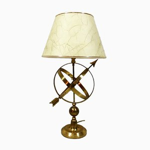 Lampada da tavolo vintage in ottone