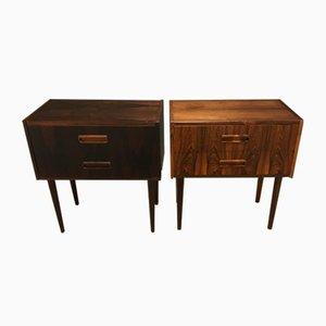 Mid-Century Danish Rosewood Nightstands, Set of 2