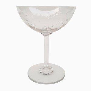 Champagnerglas von Baccarat, 1920er