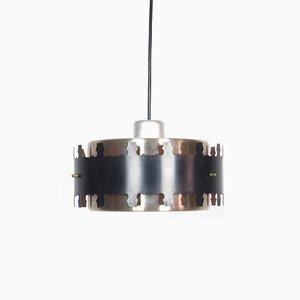 Lámpara de techo danesa de metal, años 60