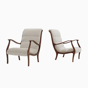 Mid-Century Italian Armchairs by Longhi Ezio for Elam, Set of 2