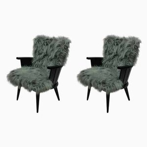 Französische Sessel, 1950er, 2er Set