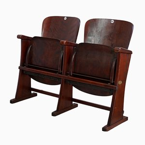 Art Deco 2-Seat Cinema Chairs, 1920s