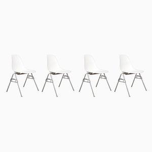 Esszimmerstühle von Charles & Ray Eames für Vitra, 1990er, 4er Set