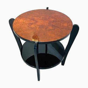 Mesa auxiliar vintage de madera nudosa