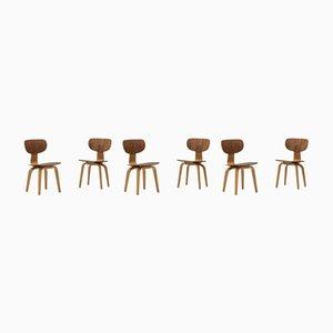 Chaises de Salle à Manger SB02 par Cees Braakman pour Pastoe, 1950s, Set de 6