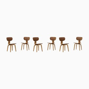 SB02 Dining Chairs by Cees Braakman for Pastoe, 1950s, Set of 6