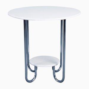 Tavolino da caffè in metallo cromato, anni '50