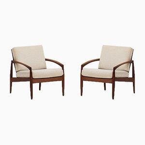 121 Lounge Chairs by Kai Kristiansen for Magnus Olesen, 1950s, Set of 2