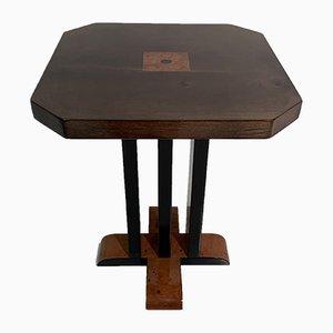 Tavolino in legno e pergamena, Italia, anni '80