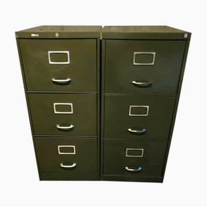 Filing Cabinets, 1970s, Set of 2