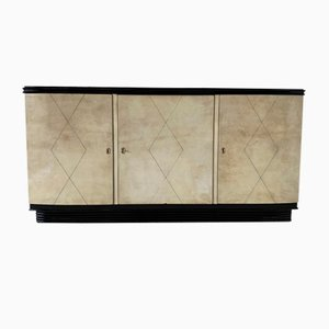 Italian Parchment Sideboard, 1940s