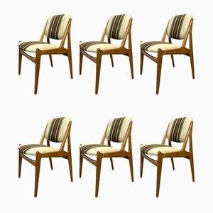 Mid-Century Esszimmerstühle von Arne Vodder für Ella, 6er Set