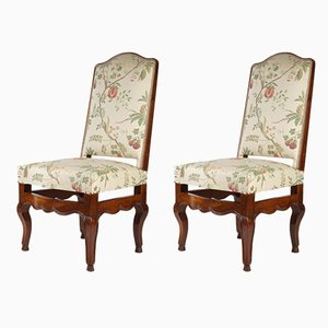 Antique Walnut Dining Chairs, Set of 2