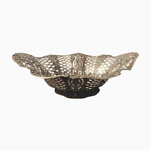 Antique Silver Ornamental Dish or Basket