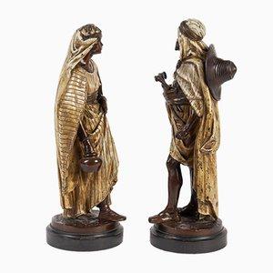 Antike orientalistische Skulpturen von Jean Jules Salmson, 2er Set