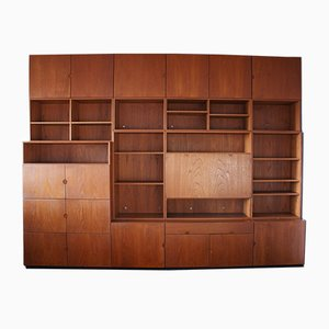 Mid-Century Rosewood Wall Unit from Bramin
