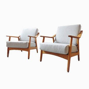 Mid-Century Armchairs by H Brockmann Petersen, Set of 2