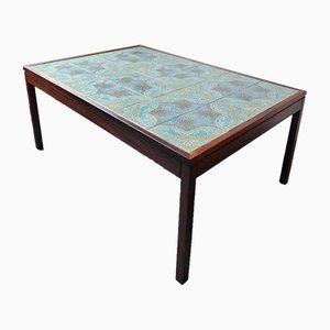 Tavolino da caffè in palissandro con piastrelle, anni '70